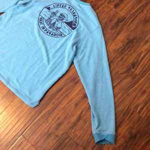 Lrg Shirts - LRG Rest in Paradise Blue Crewneck Sweatshirt